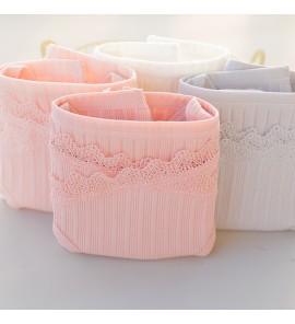 Women 4 Pieces Lacing Low Waist Underwear Pregnancy Maternity Lingerie