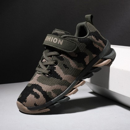 Kids Mesh Breathable Military Training Camouflage Shoes