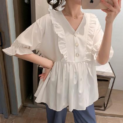 Maternity Clothing Summer Suit Chiffon Shirt Top