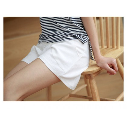 Maternity Clothing Cotton and Linen Loose Casual Pants