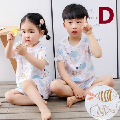 Kids Clothing Cotton Short Sleeves Comfortable Pajamas Set