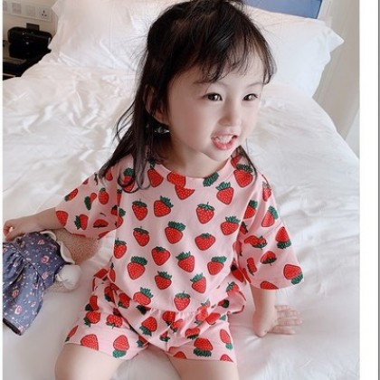 Kids Clothing  Short-sleeved Child Air-conditioning Suit