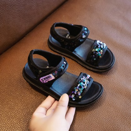 Kids Soft-soled Non-slip Princess Sequined Girls Shoes