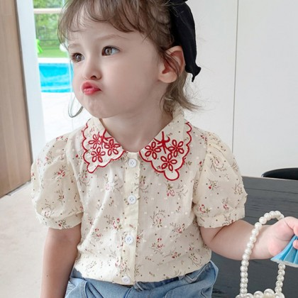 Kids Clothing Retro Floral Baby Shirts