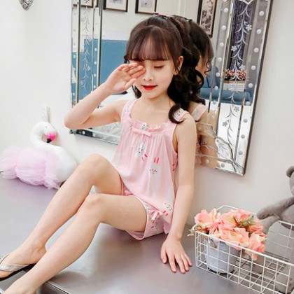Kids Clothing Cotton Silk Home Service Suit