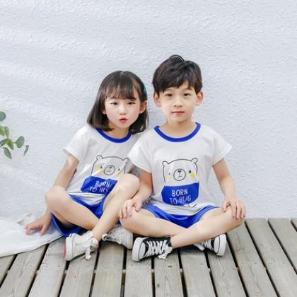 Kids Clothing Cotton Short-sleeved Pajamas Suit