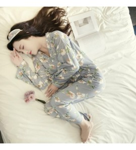 Women Flower Nursing Breast Feeding Pajamas Maternity Sleepwear