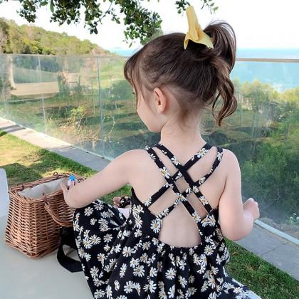 Kids Clothing Daisy Floral Sling Princess Dress