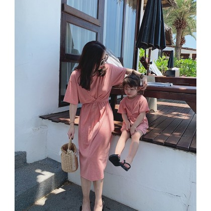 Mother-Daughter Clothing Summer Matching Korean Style Outfit