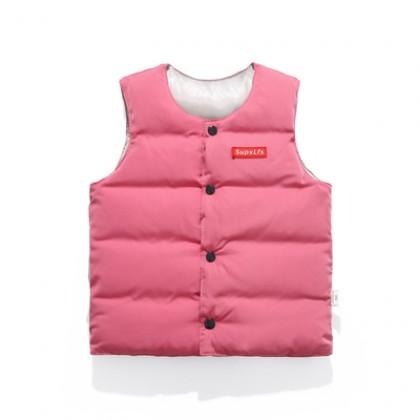 Baby Clothing Casual Winter Fashionable Waistcoat Ves