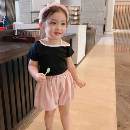 Kids Summer Fashion Off-shoulder Top Shirt