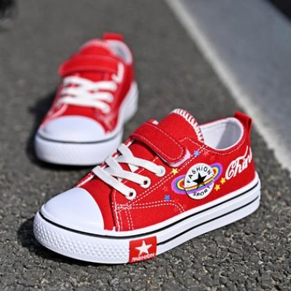 Kids Boy Lace-up Casual Canvas Shoes