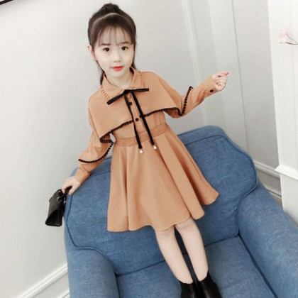 Kids Fashion Western Style Long-sleeved Princess Dress