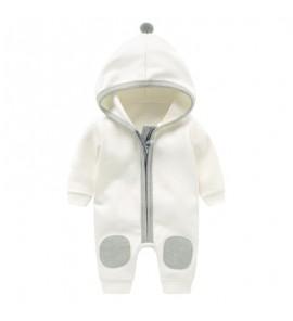 Baby Winter Keep Warm Hooded Hoodie Cloth Jumpsuit Rompers Bodysuit