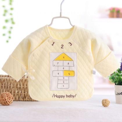 Baby Boy Girl Cute Cotton Winter Happy Day Long Sleeve T-Shirt Tops