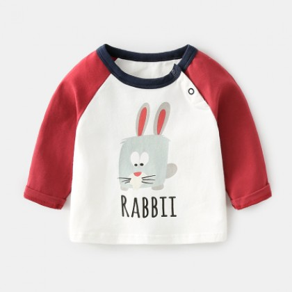 Baby Boy Girl Cute Animal City Cotton Happy Day Long Sleeve T-Shirt Tops