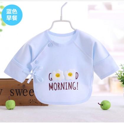 Baby Boy Girl Cute Cotton Good Morning Egg Long Sleeve T-Shirt Tops