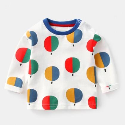 Baby Boy Girl Cute Balloon Fantasy Long Sleeve T-Shirt Tops