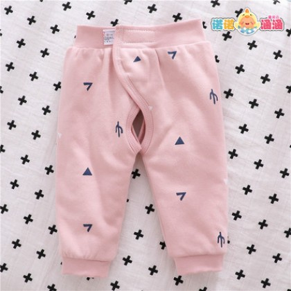Baby Clothing Adjustable Quilted Cotton Warm Open Crotch Pants