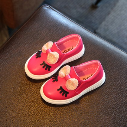 Kids Girls Bow with Sleeping Lashes Princess Shoes