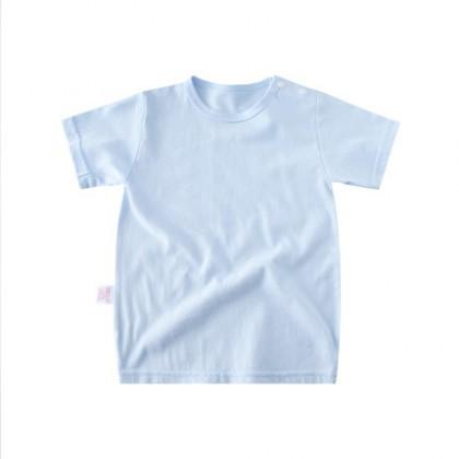 Kids New Little Girl Solid Color Short-sleeved T-shirt