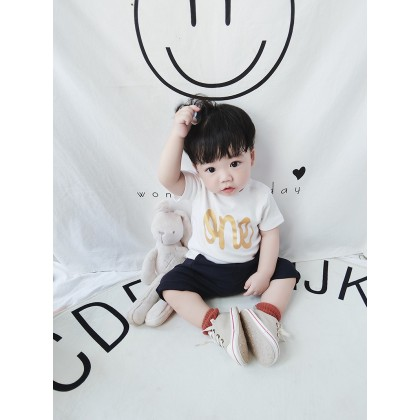 Baby Boy Cute White Numbers Long Sleeve T-Shirt Tops