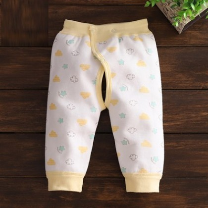 Baby Clothing Adjustable Waist Belly Protection Open Crotch Pants