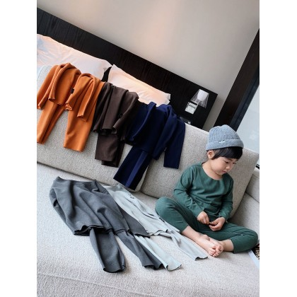 Kids Clothing Boys Seamless Warm Home Service Suit