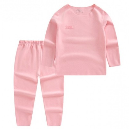 Kids Clothing Boys Seamless Solid Color Long-sleeved Warm Home Service Suit