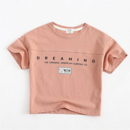 Kids Clothing Girls Spring and Summer Half-sleeved T-shirt
