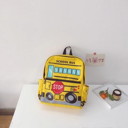 Kids Boys Lightweight School Bus Print Student Backpack