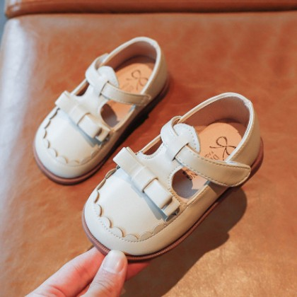 Kids Girls Princess Style Retro All-match Fashion Leather Shoes