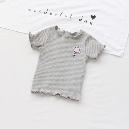 Kids Clothing Girls Short-sleeved T-shirts Summer Half-sleeved Shirts