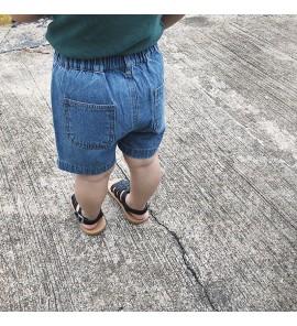 Baby Girl Boy Korean Style Light Blue Denim Jeans Short Mini Pants Trousers