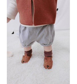 Baby Girl Boy Korean Style Grid Casual Short Mini Pants Trousers