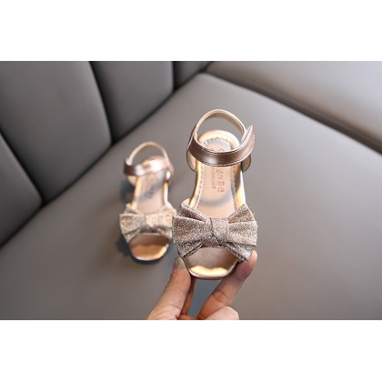 Kids girls soft-soled princess rhinestone glittery sandals