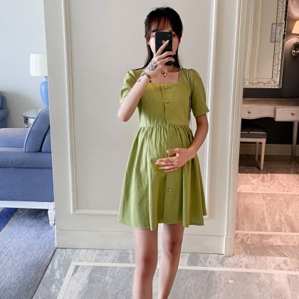 Maternity clothing summer short-sleeved thin fashion casual shirt