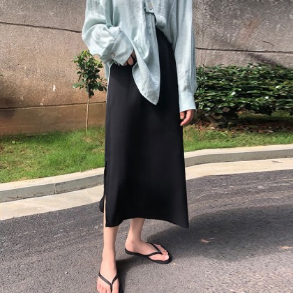 Maternity clothing fashionable mid-length A-line skirt