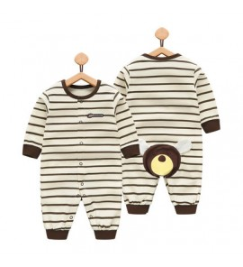 Baby Girl Boy Cute Stripes Animals Round Neck Long Sleeve Pajamas Sleepwear