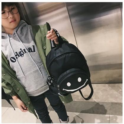 Kids Boys Smile Face Emoji  Cute Backpack