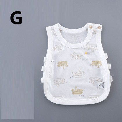 Baby Clothing Cotton Breathable Camisole Hollow Mesh Top