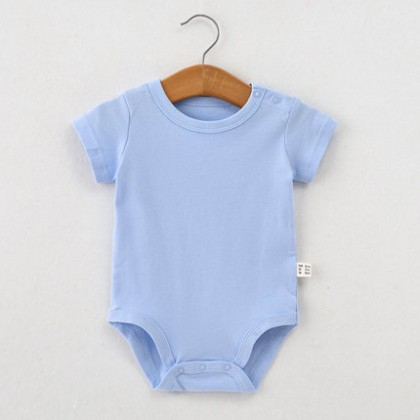 Baby Clothing Summer Thin Cotton Short-sleeved Triangle Romper