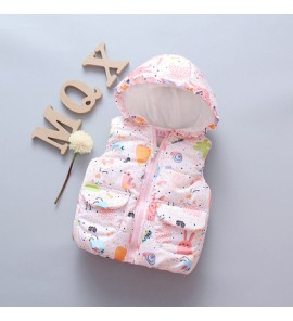 Baby Newborn Girl Boy Cute Animals Vest Hooded Winter Travel Keep Warm Jacket