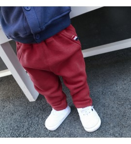 Baby Newborn Girl Boy Wine Red Corduroy Harem Winter Travel Keep Warm Pants