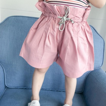 Kids Children Girl Casual Comfortable Harem Loose Bloomers Short Pants Trousers