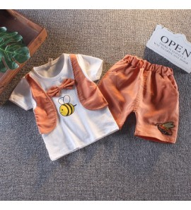 Kids Children Boy Super Value BeeT-Shirt and Pants Two Pieces One Set
