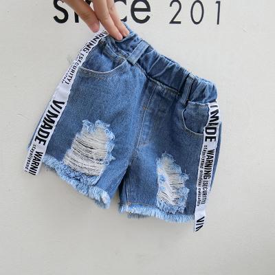 97d6b34ac1 Kids Children Boy Dark Blue Denim Jeans Letters Short Pants Trousers