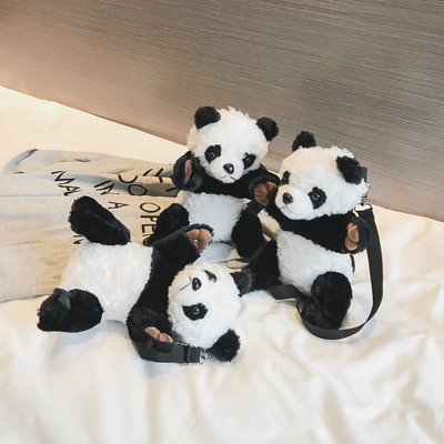 Kids Children Girl Casual Outing Cute Bear Panda Doll Student Backpack