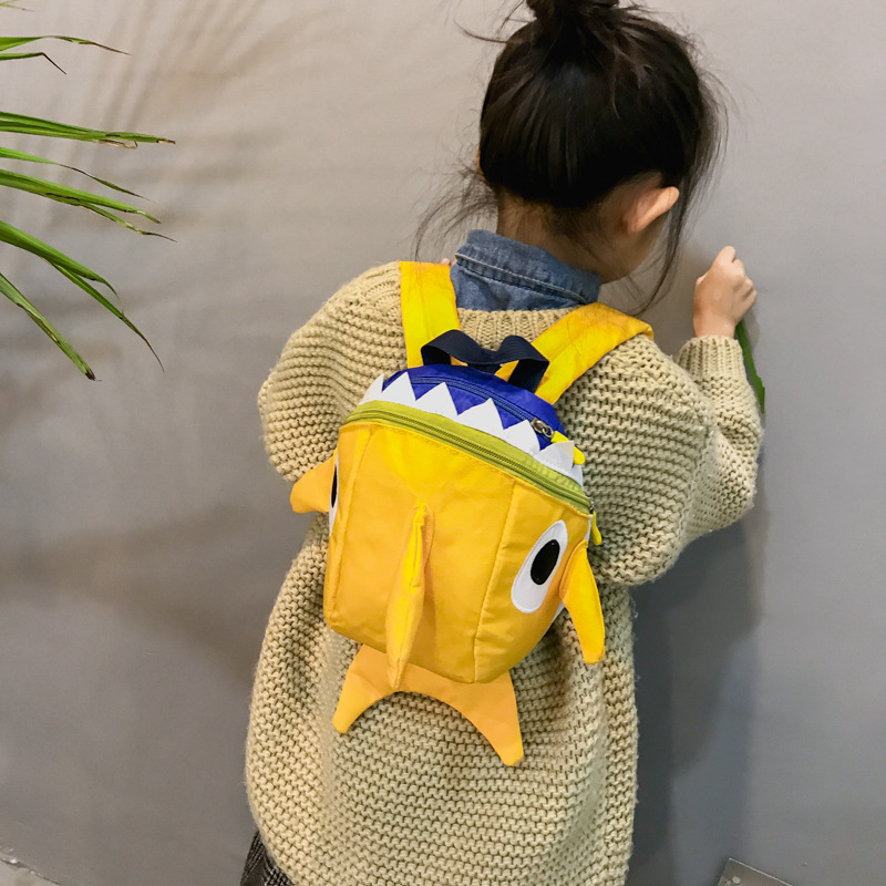 Kids Children Girl Casual Outing Cute Monster Student Backpack
