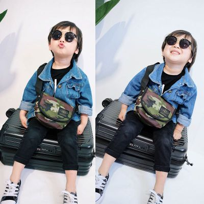 Kids Children Boy Casual Outing Cool Korean Style Sling Bag Crossbody